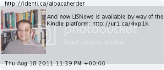 And now LISNews is available by way of the Kindle platform: http://ur1.ca/4xp1k