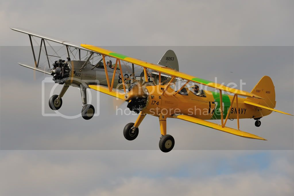 Stearman display pair, Rougham, UK